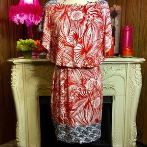 Maggie London Tropical Print Dress